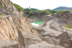 Blue lake in mining industrial Royalty Free Stock Photography