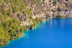 Blue Lake - Mount Gambier. The Blue Lake in a dormant volcanic maar - Mount Gambier, SA, Australia Royalty Free Stock Images