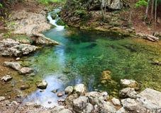 Blue Lake on mountain river Royalty Free Stock Photo