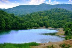 Blue lake. The blue lake in mountains Royalty Free Stock Photos