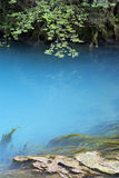 The blue lake. The lake in the mountains of Abkhazia Royalty Free Stock Image
