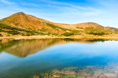 Blue lake in the mountains Stock Photography