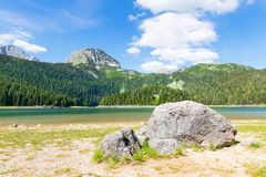 Blue lake and mountains Royalty Free Stock Images