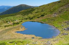 Blue Lake in the mountains Royalty Free Stock Image
