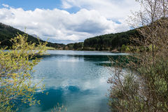 Blue Lake in the mountains Royalty Free Stock Images