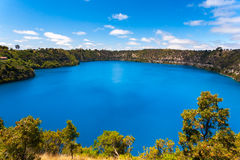 Blue Lake Mt Gambier Australia. The incredible Blue Lake at Mt Gambier, South Australia Stock Photos