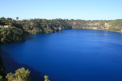 Blue Lake, Mt Gambier, South Australia. The amazing Blue Lake in Mt Gambier, South Australia stock photography