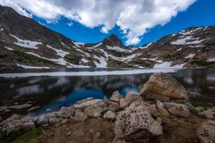 Blue Lake with Mt Toll Reflection Royalty Free Stock Image