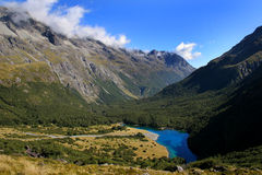 Blue Lake in Nelson Lakes National Park, New Zeala Stock Photo