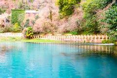 Blue lake in New Athons, Abkhazia Stock Images