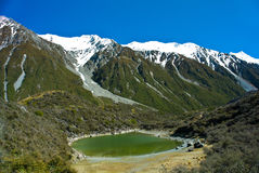 Blue Lake, New Zealand. Blue Lake with blue sky, New Zealand, South Island Royalty Free Stock Images
