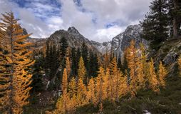 Blue Lake in North Cascades. royalty free stock photos