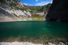 Blue Lake one of the karst lakes. Freshwater karst lake near Imotski Royalty Free Stock Images