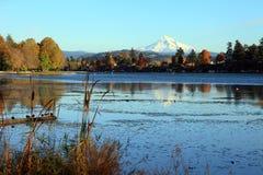 Blue lake park. Royalty Free Stock Image