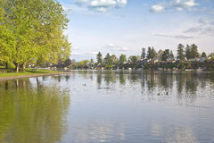 Blue Lake park Oregon state. Royalty Free Stock Image