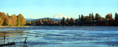 Blue Lake Park panorama Fairview Oregon. Stock Photography