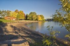 Blue Lake park at sunset Oregon. Stock Photography