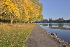 Blue Lake park at sunset Oregon. Royalty Free Stock Images