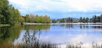 Blue Lake Park & surrounding area, Fairview OR. Stock Image