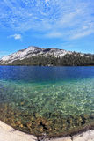 Blue lake. Photo taken fisheye lens Royalty Free Stock Image