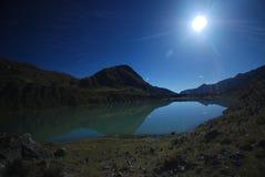 Blue Lake Reflection Royalty Free Stock Photography