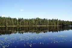 Blue Lake Reflections Royalty Free Stock Photography
