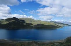 Blue lake & sky stock photography