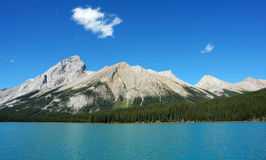 Blue lake, sky and mountain Royalty Free Stock Image