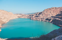 Blue Lake. Small lake of Aquamarine color Stock Image
