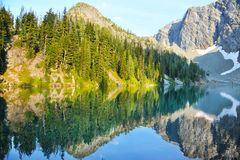 Blue Lake in a summer. Blue Lake in North Cascades National Park, WA, USA Royalty Free Stock Images