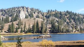 Blue Lake Summer. A shot from the edge of Blue Lake in Idaho in late summer Royalty Free Stock Photo