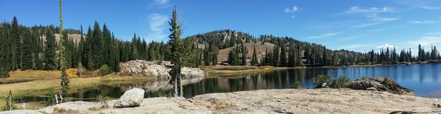 Blue Lake Summer. A view from the edge of Blue Lake in late summer Royalty Free Stock Photo