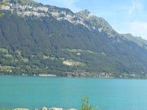 Blue lake in Switzerland royalty free stock images