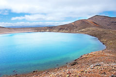 Blue lake - Tongariro Alpine crossing Royalty Free Stock Photography