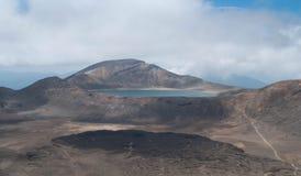 Blue lake. Tongariro crossing Stock Photography