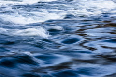 Blue lake waves Stock Photo
