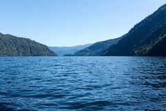 Big blue lake when the weather is nice Stock Photography