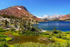 Blue Lake Yosemite Mountains, California royalty free stock photography