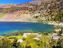 Blue Lake Yosemite Mountains, California royalty free stock photo
