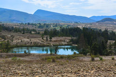 Blue lakes Desert Villa de Leyva Boyaca Royalty Free Stock Photos
