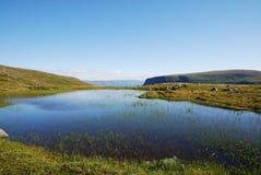 Blue lakes of summer Soroya. Royalty Free Stock Photo