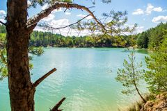 Blue lakes in Ukraine Royalty Free Stock Images