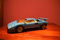 An agressive profile of a Lamborghini Countach replica royalty free stock photo