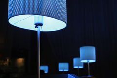 Blue Lamp. Softly glowing blue lamps Stock Photo