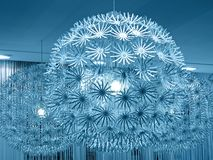 Blue lamp lighting, sphere construction, Stock Photo