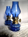 Blue lamps Royalty Free Stock Photography