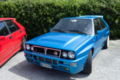 Blue Lancia Delta Martini Racing Stock Photo