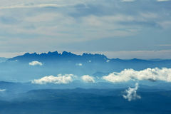 Blue Landscape. Skyline landscape with mountain a clouds Stock Photo
