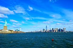 Blue Landscape. Landscape from Downtown Manhattan in a Blue Day stock images