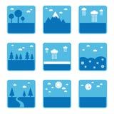 Blue landscapes Royalty Free Stock Images